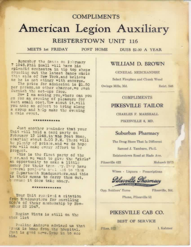 Page 3 of January 1948 Newsletter