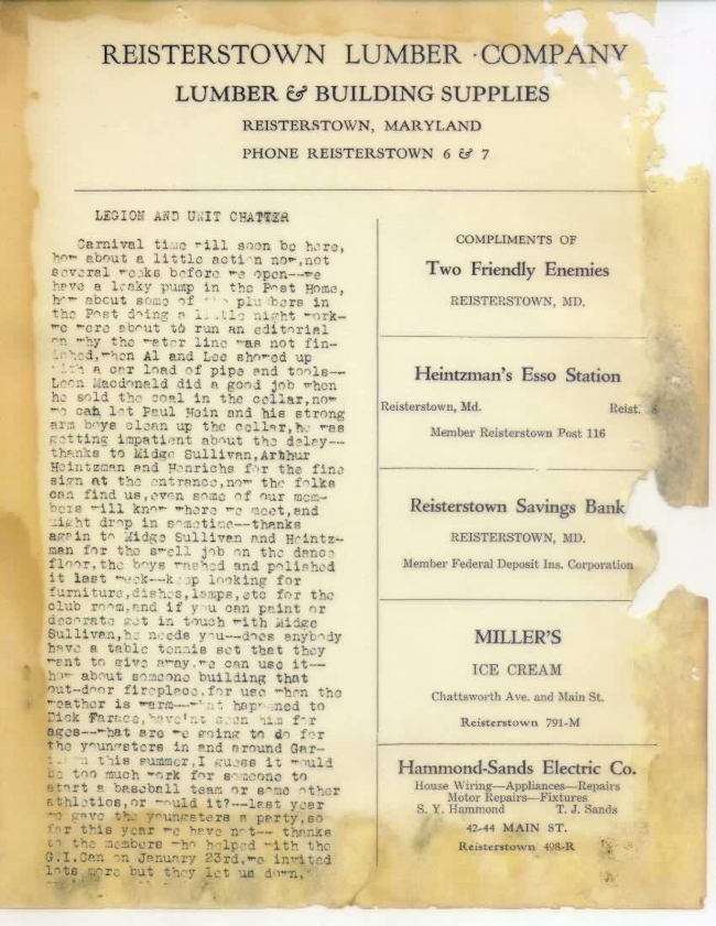Page 4 of January 1948 Newsletter