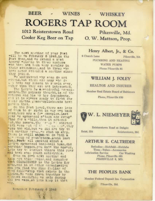 Page 5 of January 1948 Newsletter