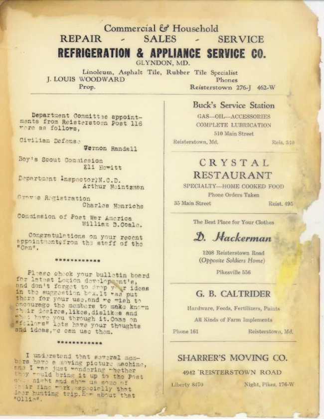 Page 6 of January 1948 Newsletter